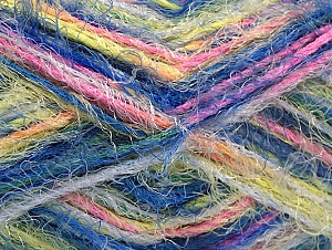 Fiber Content 60% Acrylic, 40% Polyamide, Pink, Neon Yellow, Brand ICE, Blue, Yarn Thickness 4 Medium  Worsted, Afghan, Aran, fnt2-59686