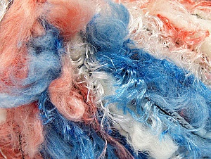 Fiber Content 100% Polyamide, White, Salmon, Brand ICE, Blue, Yarn Thickness 6 SuperBulky  Bulky, Roving, fnt2-59710