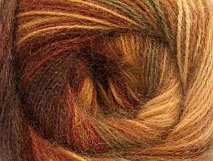 Fiber Content 60% Acrylic, 20% Angora, 20% Wool, Brand Ice Yarns, Brown Shades, Yarn Thickness 2 Fine Sport, Baby, fnt2-59747