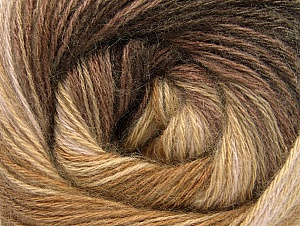 Fiber Content 60% Acrylic, 20% Angora, 20% Wool, Brand ICE, Camel, Brown Shades, Yarn Thickness 2 Fine  Sport, Baby, fnt2-59748