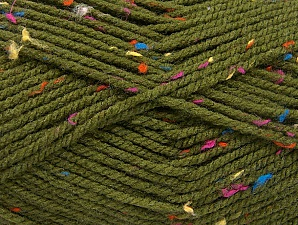 Fiber Content 95% Acrylic, 5% Viscose, Rainbow, Brand Ice Yarns, Dark Green, Yarn Thickness 4 Medium Worsted, Afghan, Aran, fnt2-59766