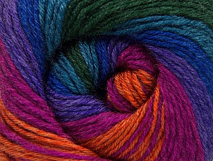 Fiber Content 70% Acrylic, 30% Merino Wool, Turquoise, Purple, Orange, Brand ICE, Green, Fuchsia, Yarn Thickness 2 Fine  Sport, Baby, fnt2-59779