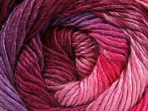 Fiber Content 50% Acrylic, 50% Wool, Pink Shades, Maroon, Lilac, Brand ICE, Yarn Thickness 2 Fine  Sport, Baby, fnt2-59785