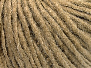 Fiber Content 50% Acrylic, 50% Wool, Light Camel, Brand ICE, Yarn Thickness 4 Medium  Worsted, Afghan, Aran, fnt2-59805