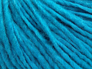 Fiber Content 50% Acrylic, 50% Wool, Turquoise, Brand ICE, Yarn Thickness 4 Medium  Worsted, Afghan, Aran, fnt2-59814