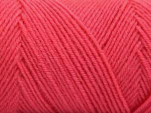 Fiber Content 50% Wool, 50% Acrylic, Salmon, Brand ICE, Yarn Thickness 3 Light  DK, Light, Worsted, fnt2-59956