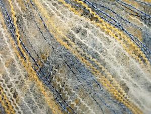Fiber Content 37% Kid Mohair, 35% Acrylic, 28% Polyamide, Yellow, White, Brand Ice Yarns, Blue, Yarn Thickness 1 SuperFine Sock, Fingering, Baby, fnt2-59959