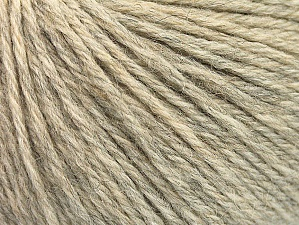 Fiber Content 55% Baby Alpaca, 45% Superwash Extrafine Merino Wool, Light Grey Melange, Brand ICE, Yarn Thickness 3 Light  DK, Light, Worsted, fnt2-59996
