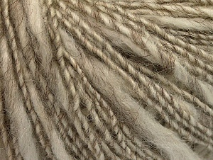 Fiber Content 40% Acrylic, 35% Wool, 25% Alpaca, White, Brand ICE, Beige, Yarn Thickness 3 Light  DK, Light, Worsted, fnt2-60074
