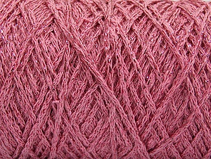 Fiber Content 90% Cotton, 10% Metallic Lurex, Light Pink, Brand ICE, Yarn Thickness 4 Medium  Worsted, Afghan, Aran, fnt2-60139