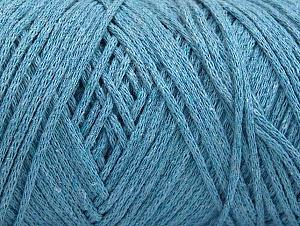 Fiber Content 100% Cotton, Light Blue, Brand ICE, Yarn Thickness 4 Medium  Worsted, Afghan, Aran, fnt2-60153