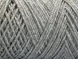 Fiber Content 100% Cotton, Light Grey, Brand ICE, Yarn Thickness 4 Medium  Worsted, Afghan, Aran, fnt2-60160