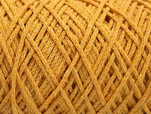 Fiber Content 100% Cotton, Brand ICE, Dark Yellow, Yarn Thickness 4 Medium  Worsted, Afghan, Aran, fnt2-60165