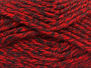 Fiber Content 100% Acrylic, Red, Brand ICE, Black, Yarn Thickness 6 SuperBulky  Bulky, Roving, fnt2-60218