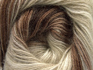 Fiber Content 60% Premium Acrylic, 20% Angora, 20% Wool, Brand ICE, Cream, Brown Shades, Beige, Yarn Thickness 2 Fine  Sport, Baby, fnt2-60238