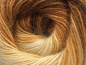 Fiber Content 60% Premium Acrylic, 20% Angora, 20% Wool, Brand ICE, Cream, Brown Shades, Yarn Thickness 2 Fine  Sport, Baby, fnt2-60239