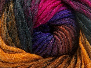 Fiber Content 50% Wool, 50% Acrylic, Purple, Brand ICE, Gold, Fuchsia, Dark Green, Yarn Thickness 5 Bulky  Chunky, Craft, Rug, fnt2-60249