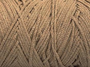 Fiber Content 100% Cotton, Brand ICE, Dark Beige, Yarn Thickness 4 Medium  Worsted, Afghan, Aran, fnt2-60409