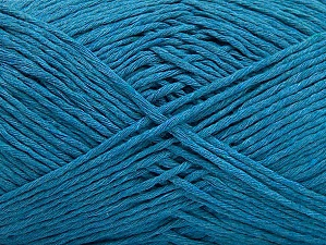 Please note that the yarn weight and the ball length may vary from one color to another for this yarn. Fiber Content 100% Cotton, Turquoise, Brand ICE, Yarn Thickness 3 Light  DK, Light, Worsted, fnt2-60433