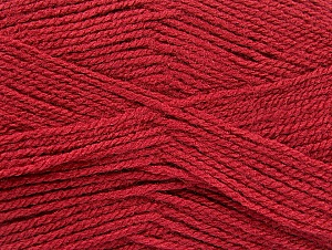 Fiber Content 100% Acrylic, Brand ICE, Burgundy, Yarn Thickness 3 Light  DK, Light, Worsted, fnt2-60854