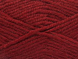 Fiber Content 50% Acrylic, 25% Wool, 25% Alpaca, Brand ICE, Burgundy, Yarn Thickness 5 Bulky  Chunky, Craft, Rug, fnt2-60861