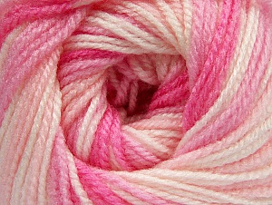 Fiber Content 100% Premium Acrylic, White, Pink Shades, Brand ICE, Yarn Thickness 3 Light  DK, Light, Worsted, fnt2-60886