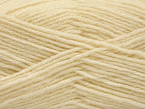 Fiber Content 50% Acrylic, 25% Wool, 25% Alpaca, Brand ICE, Cream, Yarn Thickness 3 Light  DK, Light, Worsted, fnt2-60891