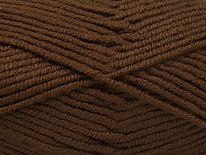 Fiber Content 100% Acrylic, Brand ICE, Dark Brown, Yarn Thickness 5 Bulky  Chunky, Craft, Rug, fnt2-60929