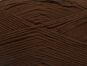 Fiber Content 100% Acrylic, Brand ICE, Brown, Yarn Thickness 4 Medium  Worsted, Afghan, Aran, fnt2-60969