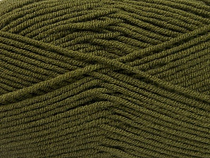 Fiber Content 100% Acrylic, Brand ICE, Dark Green, Yarn Thickness 4 Medium  Worsted, Afghan, Aran, fnt2-60981