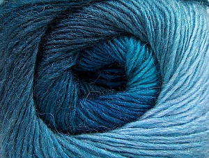 Fiber Content 60% Premium Acrylic, 20% Alpaca, 20% Wool, Turquoise Shades, Brand ICE, Blue, Yarn Thickness 2 Fine  Sport, Baby, fnt2-60996