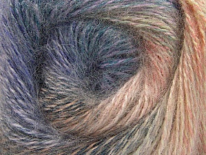 Fiber Content 75% Premium Acrylic, 15% Wool, 10% Mohair, Salmon, Lilac, Brand ICE, Cream, Blue, Yarn Thickness 2 Fine  Sport, Baby, fnt2-61003