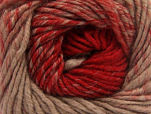 Fiber Content 75% Premium Acrylic, 25% Wool, Red, Brand ICE, Camel, Yarn Thickness 4 Medium  Worsted, Afghan, Aran, fnt2-61016