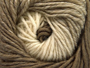 Fiber Content 75% Premium Acrylic, 25% Wool, Brand ICE, Cream, Camel, Yarn Thickness 4 Medium  Worsted, Afghan, Aran, fnt2-61017