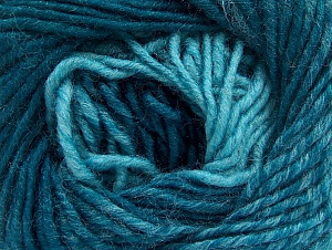 Fiber Content 75% Premium Acrylic, 25% Wool, Turquoise Shades, Brand ICE, Yarn Thickness 4 Medium  Worsted, Afghan, Aran, fnt2-61027