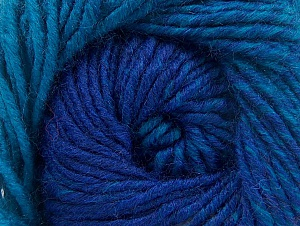 Fiber Content 75% Premium Acrylic, 25% Wool, Turquoise, Purple, Brand ICE, Yarn Thickness 4 Medium  Worsted, Afghan, Aran, fnt2-61028