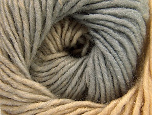 Fiber Content 75% Premium Acrylic, 25% Wool, Brand ICE, Grey, Cafe Latte, Yarn Thickness 4 Medium  Worsted, Afghan, Aran, fnt2-61077