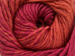 Fiber Content 75% Premium Acrylic, 25% Wool, Orange, Brand ICE, Dark Pink, Yarn Thickness 4 Medium  Worsted, Afghan, Aran, fnt2-61078