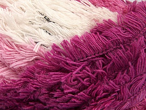 Fiber Content 95% Acrylic, 5% Polyester, White, Pink Shades, Brand Ice Yarns, Yarn Thickness 6 SuperBulky Bulky, Roving, fnt2-61119