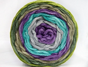 Fiber Content 100% Acrylic, Turquoise, Lilac, Light Grey, Khaki, Brand ICE, Green, Yarn Thickness 4 Medium  Worsted, Afghan, Aran, fnt2-61161