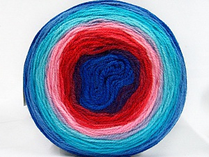 Fiber Content 100% Premium Acrylic, Turquoise, Red, Purple, Pink, Brand ICE, Blue, Yarn Thickness 3 Light  DK, Light, Worsted, fnt2-61182
