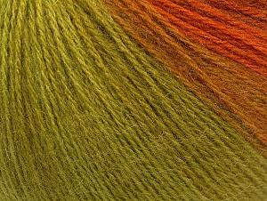 Fiber Content 60% Acrylic, 20% Angora, 20% Wool, Orange Shades, Brand Ice Yarns, Green Shades, Yarn Thickness 2 Fine Sport, Baby, fnt2-61206