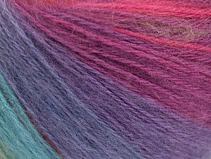 Fiber Content 60% Acrylic, 20% Wool, 20% Angora, Yellow, Turquoise, Purple, Pink, Brand ICE, Green Shades, Yarn Thickness 2 Fine  Sport, Baby, fnt2-61213