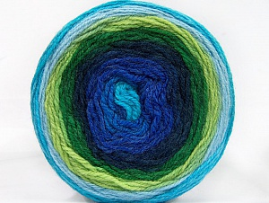 Fiber Content 70% Premium Acrylic, 30% Wool, Turquoise, Brand ICE, Green Shades, Blue Shades, Yarn Thickness 3 Light  DK, Light, Worsted, fnt2-61226