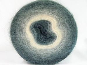 Fiber Content 60% Acrylic, 20% Angora, 20% Wool, White, Brand ICE, Grey Shades, Yarn Thickness 2 Fine  Sport, Baby, fnt2-61378