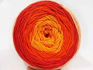Fiber Content 50% Cotton, 50% Acrylic, Yellow, Salmon, Orange, Light Salmon, Brand ICE, Yarn Thickness 3 Light  DK, Light, Worsted, fnt2-61793