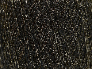 Fiberinnehåll 85% Viskos, 15% metalliskt Lurex, Brand ICE, Gold, Black, fnt2-62218