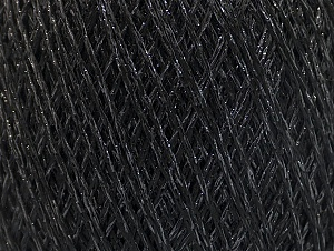 Fiber Content 75% Viscose, 25% Metallic Lurex, Brand ICE, Black, fnt2-62219