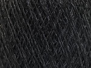 Fiber Content 75% Viscose, 25% Metallic Lurex, Brand ICE, Black, fnt2-62219