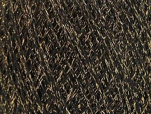 Fiber Content 75% Viscose, 25% Metallic Lurex, Brand ICE, Gold, Black, fnt2-62221